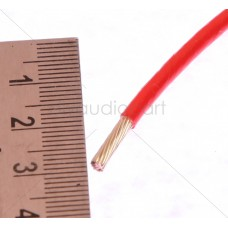 PTFE (Teflon) Hook up Wire-13 AWG-Red