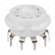 9-Pin Vacuum Tube Socket Ceramic - PC Mount