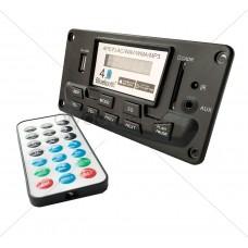 Audio Preamp Board - 12 VDC Bluetooth 4.0 FM Radio MP3 WAV FLAC - V2