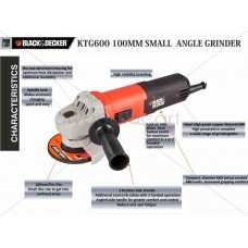 Black and Decker 610 Watts 100mm Small Angle Grinder KTG600